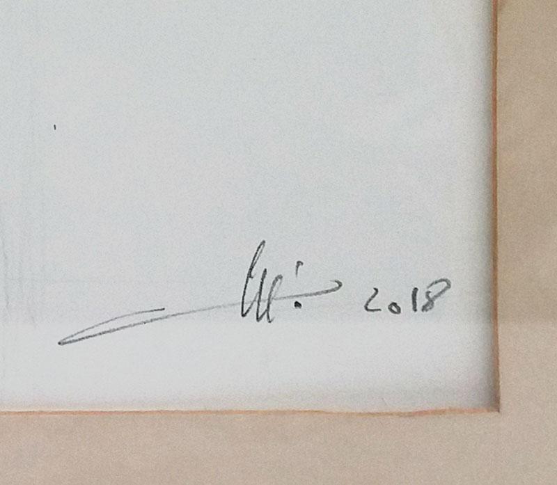 Nu homme encres signature.