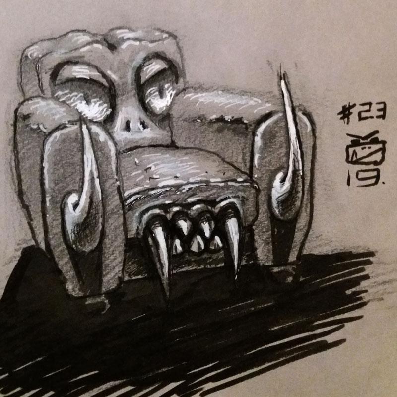 Monstroclub dessin original.