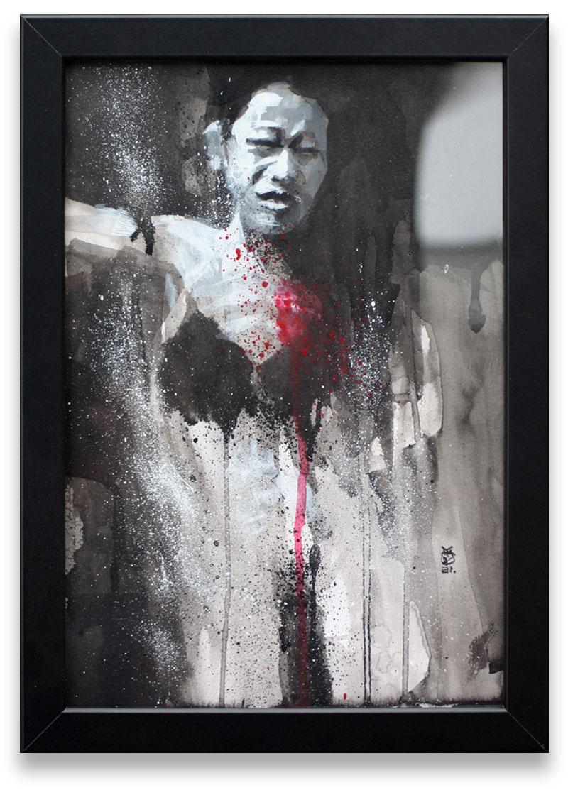 Dark life 3 Noir et Blanc, pointe de rouge, les couleurs de l'âme.